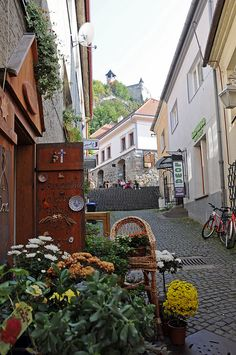 Old town street in Trenčín, Slovakia (by Martin Hronský).