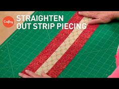 How to Straighten Curved Strip Sets - Quilting Digest Quilting Tips, Quilting Tutorials, Quilting Projects, Quilting Designs, Strip Quilts, Quilt Blocks, Ribbon Quilt, Straight Line Quilting, Jellyroll Quilts