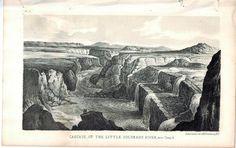 Cascade of the Little Colorado River near Camp 13 1853 Indian Litho Print