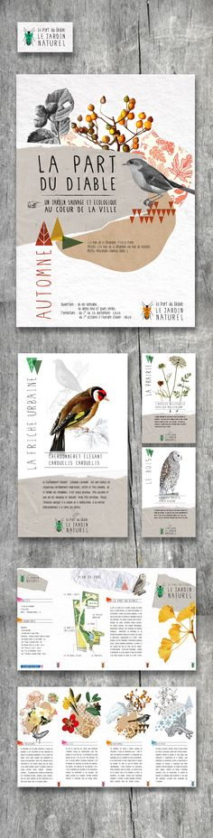 Editorial design by Marion Dufour and Marie Charlotte Jestin > via Behance