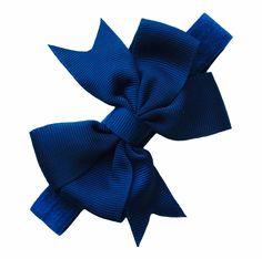 Haarbandje met strik blauw www.stijlicoontjes.nl