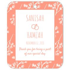 The Summer Flowers Thank You favor tag is the perfect favor decoration or gift tag for weddings and engagements. Wedding Gift Tags, Diy Wedding, Wedding Favors, Party Favors, Wedding Types, Box Patterns, Customizable Gifts, Wedding Stickers, Gift Wrapping Paper