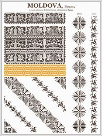 Semne Cusute: ie romaneasca, MOLDOVA, Neamt - Tasca Folk Embroidery, Cross Stitch Embroidery, Embroidery Patterns, Quilt Patterns, Knitting Patterns, Cross Stitch Borders, Cross Stitch Designs, Cross Stitching, Cross Stitch Patterns