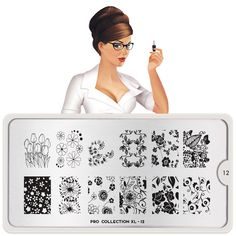 Enjoy geometric shapes, flowers and intricate patterns that will bring out the professional nail artist in you. Nail Art Stamping Plates, Nail Plate, Nail Stamper, London Nails, Nail Art Images, Image Plate, Professional Nails, Nature Prints
