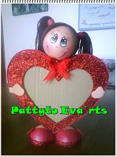 Foam Crafts, Diy And Crafts, Arts And Crafts, Picture Frame Crafts, Picture Frames, Valentine Decorations, Valentine Day Crafts, Craft Projects, Lily