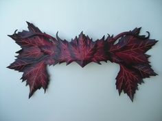 Leather Maple leaf crown by wingandtalon on Etsy, $100.00