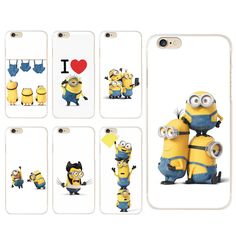 For coque iPhone 5S case 4 4S 5 5C SE 6 6S 7 Plus Nwest Minions hard PC cover 2016 new arrivals for fundas iPhone 6S case