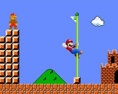 Mario and Mario   16 Video Game Characters Posing With The Old Versions Of Themselves