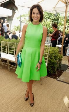 lime green IS possible.   Vogue Daily — Camilla Belle