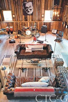 Morphing a working horse barn into a music studio via cottages-gardens.com