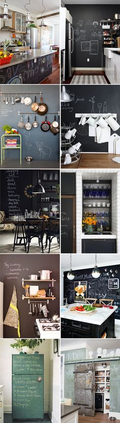 auch eine coole idee f r eine tafel wand in der k che. Black Bedroom Furniture Sets. Home Design Ideas