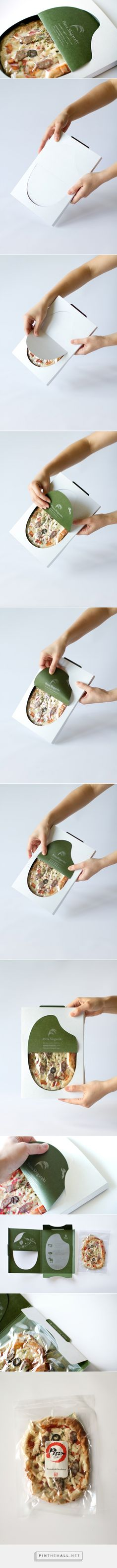 #Pizza Shigaraki #packaging designed by Masahiro Minami Design - http://www.packagingoftheworld.com/2015/04/pizza-shigaraki.html