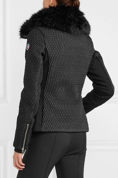 Fusalp - Montana Faux Fur-trimmed Quilted Ski Jacket - Black - FR46