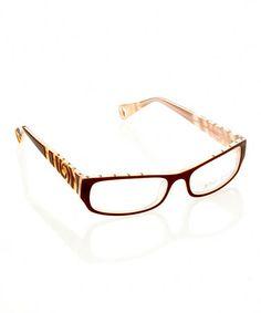 1edfb4bb9f0 Betsey Johnson Espresso Punk Rock Eyeglasses