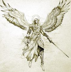Archangel Gabriel #ink #tattoo #tatouage #inspiration