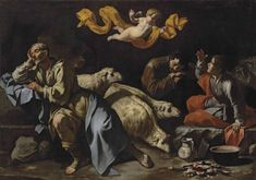 The Master of the Annunciation to the Shepherds (active in Naples, first half of the 17th century), The Annunciation to the Shepherds, Oil on canvas, 127x180.3 cm