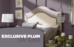Ash violet by sherwin williams this is the color of my for Exclusive plum bedroom