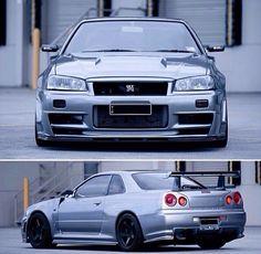 This is a really nice colour for a Skyline 😜❤ Tuner Cars, Jdm Cars, Nissan R34, Gtr Car, Nissan Gtr Skyline, Japanese Cars, Sport Cars, Dream Cars, Wheels