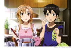 Sword Art Online Artbook (Tentative), Yuuki Asuna, Kirigaya Kazuto, Hazel Eyes