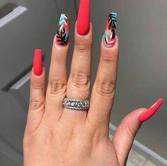15 Color Changing Nail Inspirations Cool Nail Art Designs 2019 Creative Nail Designs for Short Nails to Create Unique Styles Aycrlic Nails, Hot Nails, Swag Nails, Coffin Nails, Coral Nails, Creative Nail Designs, Creative Nails, Nail Art Designs, Nagellack Design