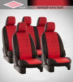 Черные с красным чехлы Автопилот на сиденья от интернет магазина Autopilot style. http://autopilot-style.ru/ для Ниссан, Опель.