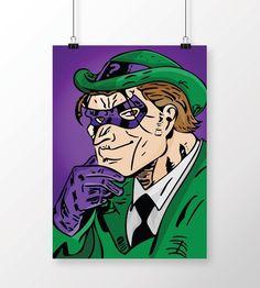 Poster Batman - Charada Color em print