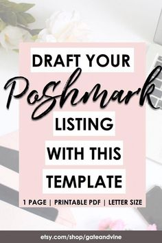 List Template, Templates, How To Start A Blog, How To Make Money, Shops, Business Planner, Best Deals Online, Selling On Poshmark, How To Sell On Poshmark