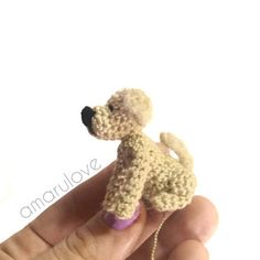 Patrón perro labrador (golden retriever) Perro Labrador Golden, Golden Retriever, Teddy Bear, Animals, Knitting Charts, Crochet Animals, Chain Stitch, Animales, Animaux
