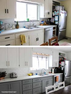 Old Kitchen Cabinets Makeover . Old Kitchen Cabinets Makeover . Makeover Your Kitchen Cabinets for More Storage and Kitchen Cabinets On A Budget, Kitchen Cabinets Pictures, Refacing Kitchen Cabinets, Painting Kitchen Cabinets, Diy Cabinets, Kitchen Paint, Kitchen Decor, Kitchen Ideas, Cheap Cabinets