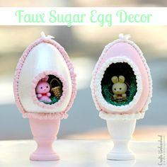 Faux Sugar Egg Easter Decor