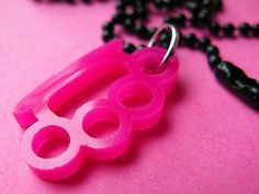 Knuckle Duster Necklace (Pink)  @tizzalicious  #tizzaliciouspinandwin