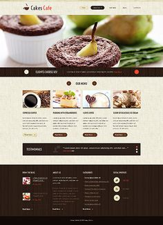 Cakes Cafe #website #template. #themes #business #responsive