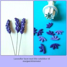How to make fondant lavender ~ Polymer Clay FlowersHow to Make a Fondant Cake with Gum Paste Flowers by AnnaHow to make fondant lavender dan werkt dat ook met fimo klei!Polymer clay inspiration: How to make fondant lavenders. Do I like this technique Fondant Rose, Fondant Cupcakes, Fondant Baby, Sugar Paste Flowers, Icing Flowers, Fondant Flowers, Edible Flowers, Diy Flowers, Creative Cake Decorating