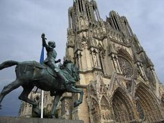 Image detail for -Joan of Arc statue at Reims Cathedral