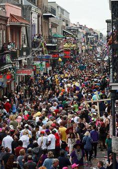Mardi Gras in New Orleans. Bourbon Street March 2014 Mardi Gras in New Orleans. Great Places, Places To See, New Orleans Louisiana, Louisiana History, Louisiana Usa, New Orleans Mardi Gras, Mardi Gras Party, Bourbon Street, Crescent City
