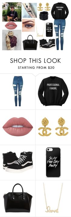 """Never love anybody who treats you like you're ordinary."" by jblover-1fan on Polyvore featuring Topshop, Lime Crime, Chanel, Vans, Givenchy, Sydney Evan and Saachi"