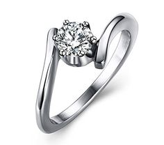 MG Jewelry Women Single Cubic Zircon Promise Eternity Engagement Wedding Solitaire Ring Stainless Steel Mealguet http://www.amazon.com/dp/B016KHTNGI/ref=cm_sw_r_pi_dp_s1Ahwb1ZKTB6S