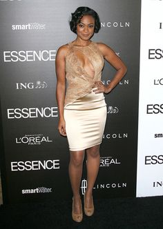 Tatyana Ali looks amazing in this dress. Love the color against her skin and the overall shape of the dress