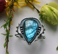 RESERVED  Electricity Dancing   Labradorite by MercuryOrchid