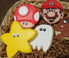 Super Mario Bros Cookies from The Cookie Jar