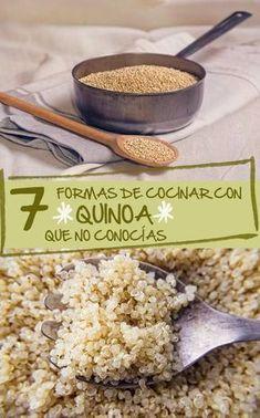 7 formas de cocinar con quinoa que no conocías Veggie Recipes, Low Carb Recipes, Real Food Recipes, Vegetarian Recipes, Cooking Recipes, Healthy Recipes, Chicken Recipes, How To Cook Quinoa, Going Vegan