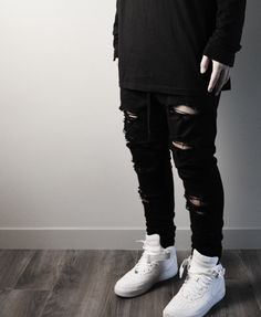 Distressed Essential Pants by bomb co.