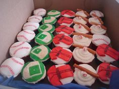@Kyla Moore  Little Red Sox cupcakes...for the kiddos at your wedding? :)