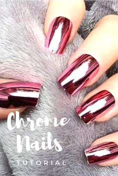 Chrome nails Tutorial: Nails are taking it up a notch this year and laying on Metallic finishes