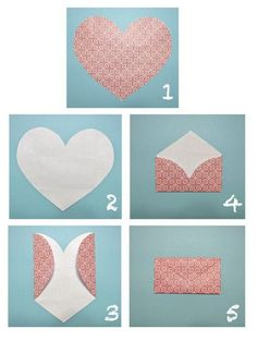 How to make an envelope out of a heart!