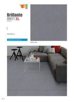 """Millennium Tiles 800x800mm (32x32) Vitrified Matt Porcelain XL Tiles Series """"Siberian Gray"""""""