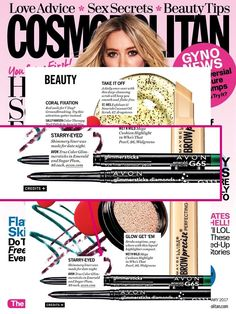 Looking for the perfect date night sparkle? @Cosmopolitan shared their fave beauty products and featured Avon True Color Glimmersticks in Sugar Plum and Emerald!