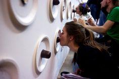 Get your dreamkiss  www.mitessenspieltman.de - Catering installation in Gallery Bunkier Sztuki, Krakau