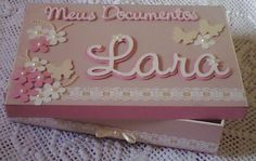 Caixa em MDF Decorada com Papeis de Scrapbooking. Orçamento pelo e-mail jannainamelo@ig.com.br