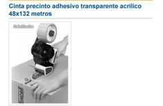 Cinta precinto adhesivo transparente acrilico 48x132 metros